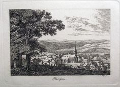 1790 HERISAU canton of Appenzell Ausserrhoden - Copper Engraving by J. H. Meyer…