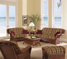 South Sea Rattan & Wicker Furniture Autumn Morning Living Room Set - Home Furniture Showroom