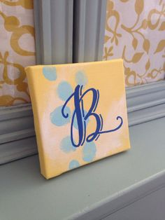 "New Listing! READY TO SHIP:) Hand lettered ""B"" initial by BeanstalkLoft on Etsy, $10.00"