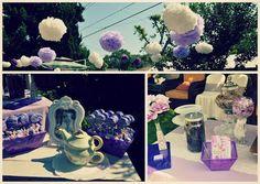 Vintage bridal shower tea party.