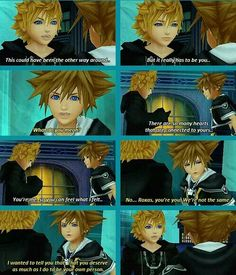 """""""Sora, see? That's why it has to be you.""""  I love Roxas ❤️"""