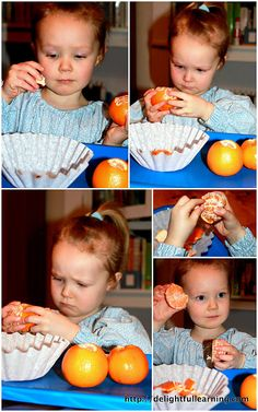 Peeling an orange is a task that can be calming in itself, as a child sits and does it.  Then, the orange itself provides vitamin C and muscle-relaxing potassium. (Information from: http://www.sheknows.com/parenting/articles/807819/calming-foods-for-hyperactive-kids) #additudemag and #adhdplate