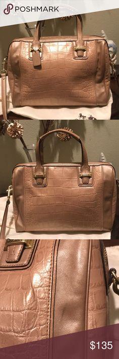 5d4ba2f58946 Coach TAYLOR Shimmery Sand Leather Handbag