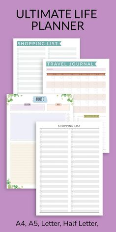 This Itinerary Vacation really is the best way to organise your holiday vacation. Map out an overview of your trip, take note of your transportation and accommodation arrangements. It is available in all popular sizes and can be saved in printable PDF format, or use with Notability, Goodnotes, Xodo and Noteshelf for your Android tablet. #itinerary #vacation #planner #templates #travel Home Planner, Vacation Planner, Travel Planner, Travel List, Journal Template, Planner Template, Paper Templates, Daily Planner Printable, Graph Paper