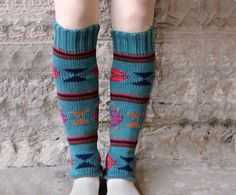 Legwarmers out of old sweater sleeves!