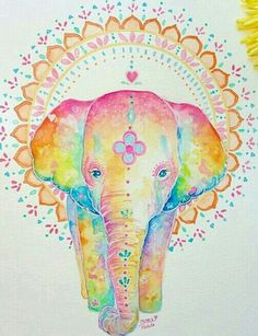 Peace and light Elephant Wallpaper, Elephant Artwork, Indian Elephant, Elephant Love, Elephants Never Forget, Elephant Tattoos, My Spirit Animal, Cute Wallpapers, Illustrations Posters