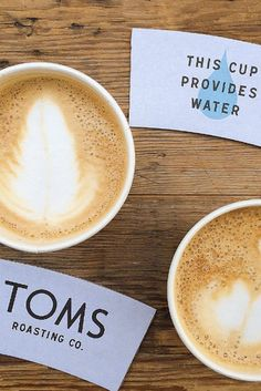 This cup of TOMS Roasting Co. Coffee provides water. Photo by: Nimra Haroon