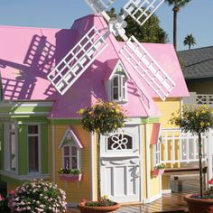 If I hit the lottery, this is the first thing I'm gettin'!!!!  Sophies Magical Windmill Playhouse from PoshTots