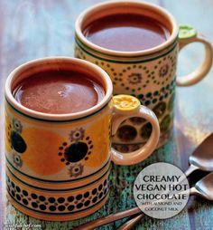 Creamy Vegan Hot Chocolate with Almond and Coconut Milk // wishfulchef.com