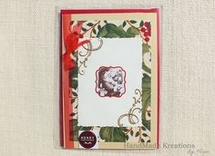 Celebrate the joy of Christmas with this handmade #santacard #christmascard #handmadecard #etsy