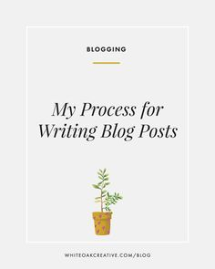 White Oak Creative shares her process for writing, publishing, and publicizing blog posts. A must read for all #bloggers looking to grow their audience!