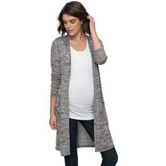 Oh Baby by Motherhood™ Open-Front Long Cardigan - Maternity