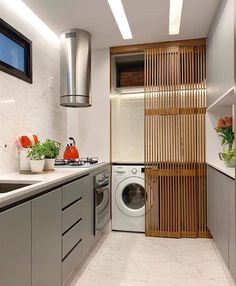 Browse laundry room ideas and decor inspiration. Discover designs for custom laundry rooms and closets, including utility room organization and storage Small Laundry Rooms, Laundry Room Design, Diy Barn Door, Diy Door, Home Decor Styles, Cheap Home Decor, Small Apartments, Small Spaces, Ethnic Home Decor