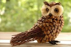 13 Endlessly Fun Pine Cone Crafts For Kids Pine Cone Art, Pine Cone Crafts, Pine Cones, Acorn Crafts, Owl Crafts, Pine Cone Decorations, Christmas Decorations, Autumn Decorations, Pinecone Owls