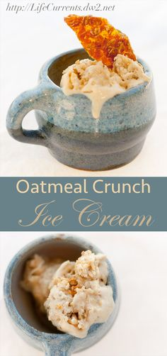 Oatmeal Crunch Ice Cream. Oh yeah, ice cream for breakfast!
