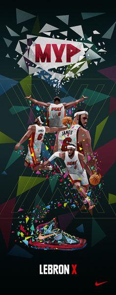 LeBron James MVP 'Polygon' Art