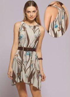 Gostei deste produto do Portal Posthaus! Vestido Curto Modelo Trapézio $29.99
