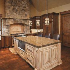 Gorgeous glazed cabinetry!