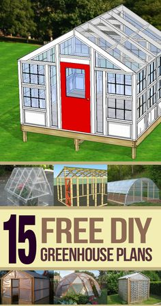 I compiled a great list of places where you can find free #Greenhouse plans. As a bonus, I added the plans that I used to build my greenhouse from old windows.