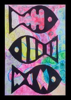 November Dream Painters: Coral Reef Fish ~ Version 2 hole punch an eye… First Grade Art, 4th Grade Art, Ecole Art, Kindergarten Art, Sea Art, Art Lessons Elementary, Art Lesson Plans, Fish Art, Art Classroom
