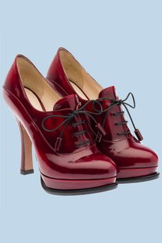 "Dear Santa, please place these Prada shoes under my tree... thanks. *(me) yes, I'd wear these ""red"" shoes. ;)"