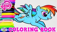 My Little Pony Coloring Book MLP Rainbow Dash Episode Surprise Egg and T...
