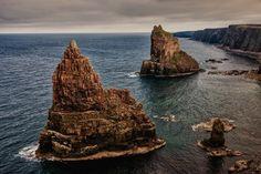 16 Lugares En Escocia. LAS PILAS de DUNCANSBY, JOHN O´GROATS.