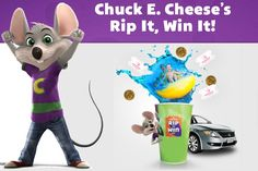 Play IWG for a chance to win Chuck E. Cheese's tickets and tokens, a Chuck E.Cheese's pizza party or even a trip to Toys for Bob.  #Sweepstakes #InstantWin #Tickets #Win #Big #PizzaParty #Vacation #Trip #GiftCode