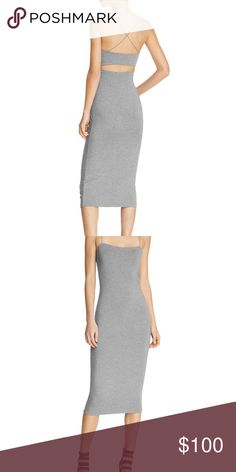 Alexander Wang cut out modal cami dress Size medium and I say it fits true to size or a little bigger. The material is an amazing stretchy blend of modal & spandex. This is more of a casual dress to me and perfect for the going out since it is very flattering to the body despite the pictures I have up of the models. I think this is amazing for women with curves and I will include pictures of me in it soon so you can see how good it fits! Price is firm Alexander Wang Dresses