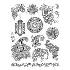 Viva Decor My Paper World Silicone Stamps - India Paisley #16