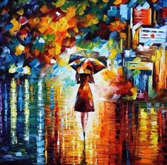 Image via We Heart It #autumn #drawing #lady #painting #rain