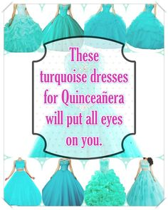 Turquoise Quinceanera dress- These insider tips from social events party planners will enable you to find the most perfect Turquoise Quinceanera dress really quickly! Turquoise Quinceanera Dresses, Turquoise Dress, Quinceanera Party, Social Events, All About Eyes, True Colors, Looking For Women, Dress For You, Beautiful Day