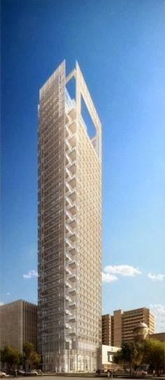 Marvelous Architecture around the World !!! Part -1 - Meier on Rothschild. New residential tower on Rothschild Boulevard in Tel Aviv by Richard Meier.