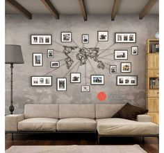 Carte métal du monde en décoration murale Artwall and Co ! Reliez vos cadres de voyages à notre déco !