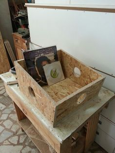 First prototype box for our boutique vinyl store