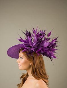 Red /& Hot Pink Magenta Fascinator Hat//choose any main//highlight feather colour