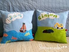 some pillows for boys #sewing #sternenzauber