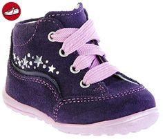 Richter Kinder Minis violett Velourleder Schnürer Mädchen-Schuhe 0021-831-7501 blackberry Mini, Farbe:violett;Größe:20 - Kinder sneaker und lauflernschuhe (*Partner-Link)