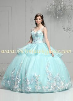 997a4eec6bb Gorgeous tulle ball gown with embroidered lace applique on bodice   skirt   organza overlay at