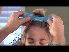How to cut CHILDRENS hair tutorial- Kids Bangs, layers, and one length cuts - YouTube