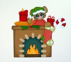 0night before Christmas fireplace