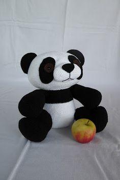 Giant amigurumi panda
