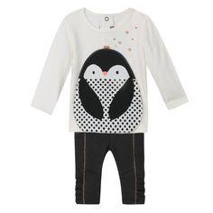 Catimini - Baby Girl Graphic Cuddly Penguin Set - 1