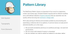 A collaborative collection of resources for creating Front-End Style Guides and Pattern Libraries Website Style Guide, Responsive Web Design, Grid System, Pattern Library, Style Guides, Ecommerce, Coding, Libraries, Communication