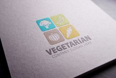Vegetarian Logo by eSSeGraphic on @creativemarket