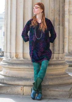 Hidden & Jungle in luxurious materials – Gudrun Sjödén - velour jersey tunic - winter 2017