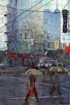 Amazing water color artist, love his city scenes.  John Salminen