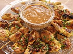 Chicken Satay with Peanut Sauce recipe from Ree Drummond via Food Network