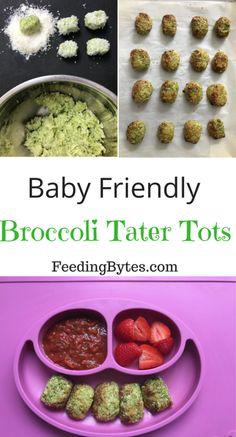 Baby Friendly Broccoli Tater Tots | Feeding Bytes