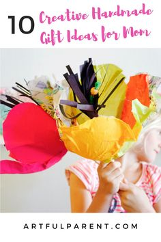This Mother's Day we've compiled an amazing list of 10 creative handmade gift ideas from Instagram for mom that kids can make themselves. Art Activities For Kids, Spring Activities, Art For Kids, Projects For Kids, Crafts For Kids, Arts And Crafts, Spring Crafts, Holiday Crafts, Felt Succulents